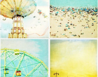 Coney Island Photography Set // Carnival Theme Photography Nursery Decor // Beach Photography & Carnival Rides - Coney Island Art Collection