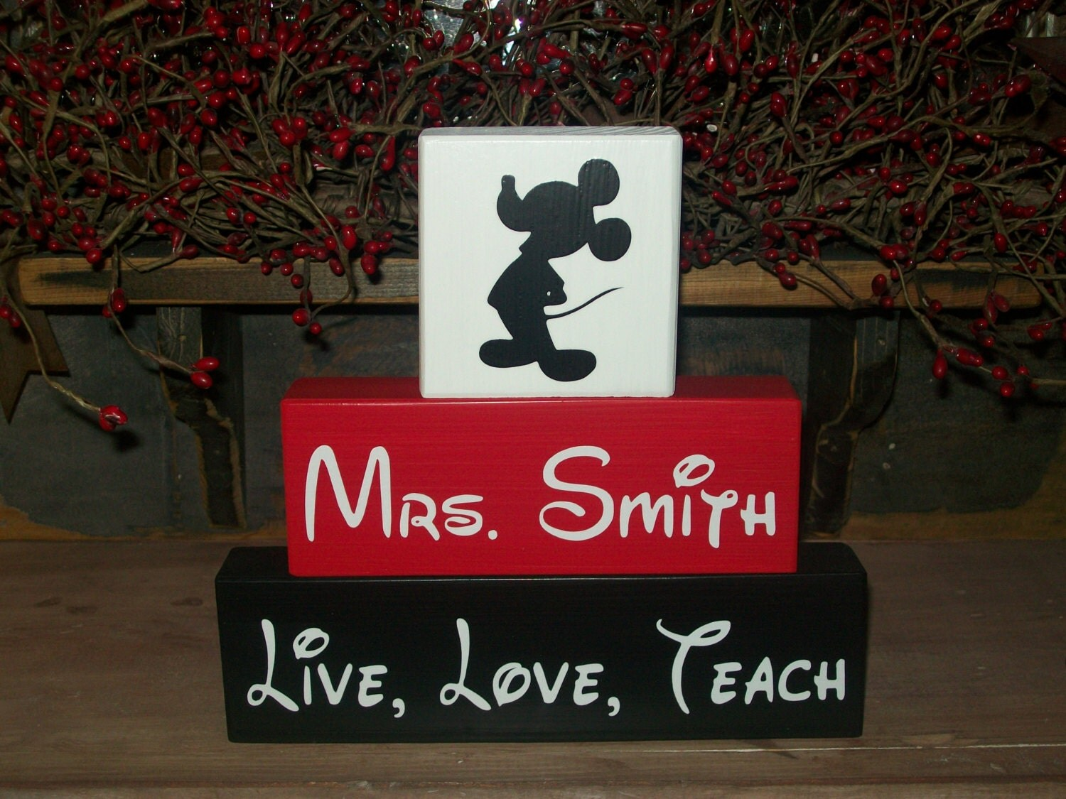 Teacher Appreciation Gift Minnie Or Mickey Mouse 3 Piece