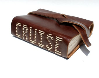CRUISE - Handmade Leather Travel Journal by Wee Bindery