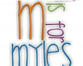 Myles Monogram Font Set - Perfect for boys and girls- Machine Embroidery Font Alphabet Letters  - Instant Email Delivery Download design
