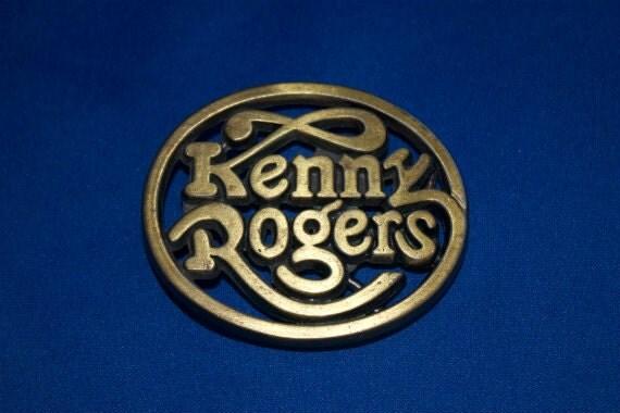 Vintage Kenny Rogers Buckle 1979 Brass Like