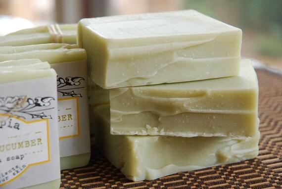 Cucumber & Green Tea handmade soap - CP - 4 oz.