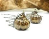 Pumpkin necklace - Halloween jewelry Halloween necklace Ceramic jewelry