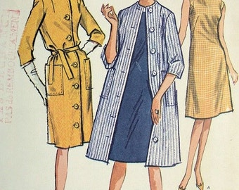 Vintage Dress and Coat PAattern McCall's 7205
