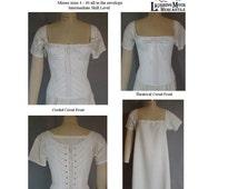 Ladies Regency and Romantic Era Corset Laughing Moon Sewing Costume Pattern 115