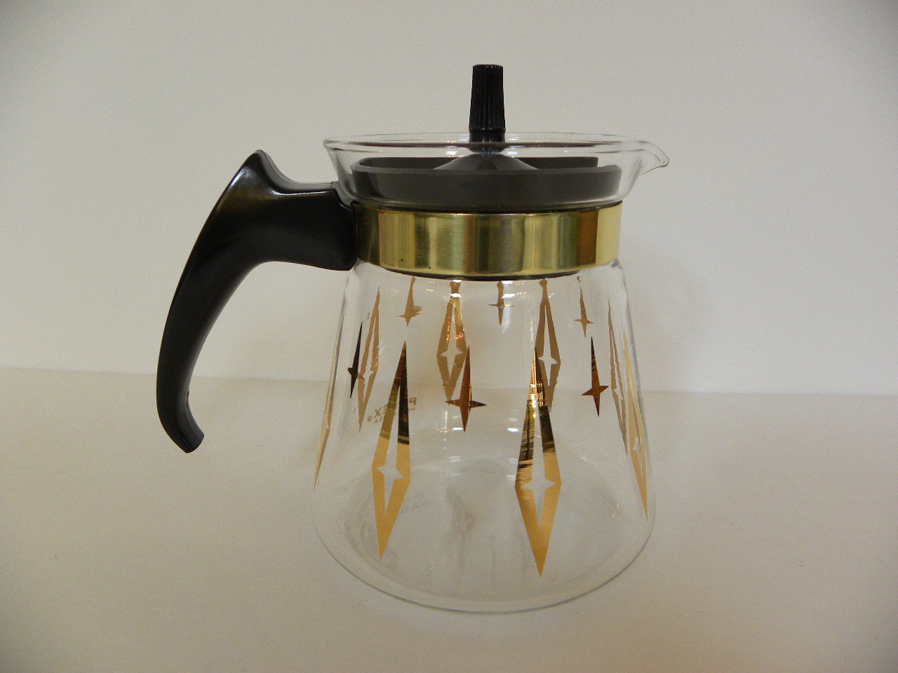 Vintage Pyrex Teapot Coffee Pot 2 Cup Clear Glass With