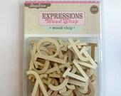 Wood Veneer Letters Alphabet Scrapbook Embellishment Pink Paislee