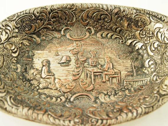 Ornate Silver Dish - Vintage
