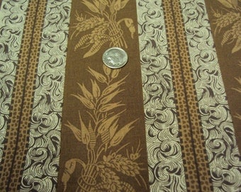 Reproduction Civil War Fabric (Brown and Taupe) - 1 Yard  - DESTASH