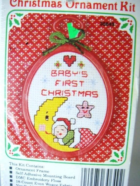 baby u0026 39 s first christmas cross stitch ornament kit