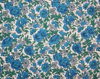 SALE - Liberty tana lawn printed in Japan -  Rosalind  - Blue