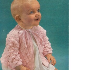 BABY KNITTING PATTERN - Coat/Jacket 2 sizes 1-6 months and 6-12 months