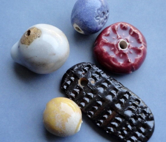 Handmade Ceramic Beads Set 7