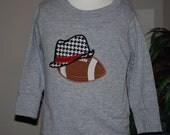 Alabama Houndstooth Hat and Football Shirt