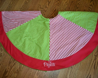 Personalized Christmas tree skirt made to match your Christmas stockings