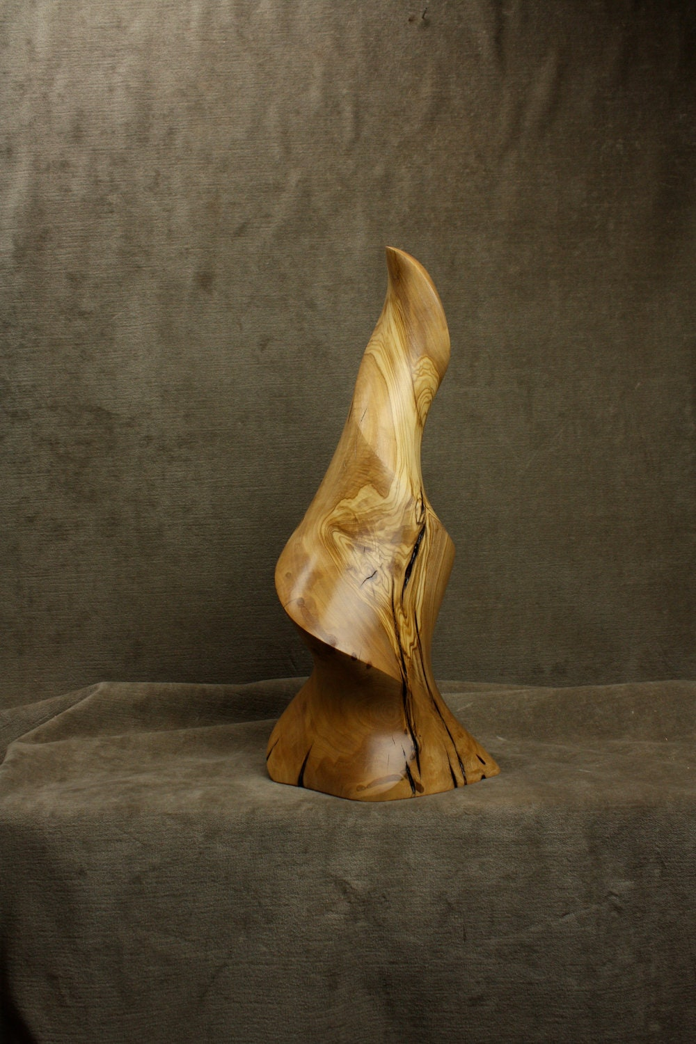 Abstract Art Wood Carving Sculpture Ooak Christmas Gift