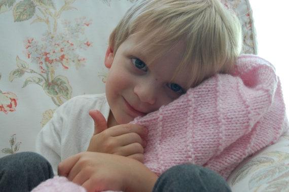 Soft Plush Light Pink Baby Girl Blanket Newborn Blanket Toddler Blanket - Ready to Ship