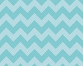 Medium Chevron Tone on Tone Aqua by Riley Blake Designs 1 yd total