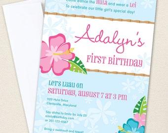 Luau Party Invitations - Professionally printed *or* DIY printable