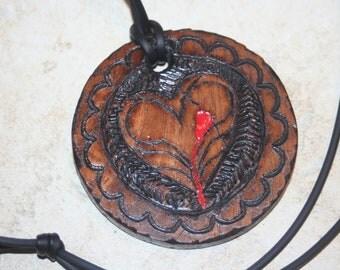 Ted Dekker,  book cover replica Necklace, Forbidden