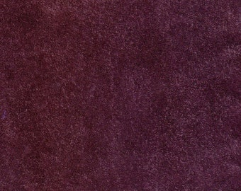 3637  -  Suede Leather - Recycled -  Aumbergine