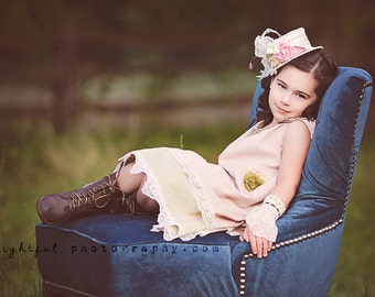 Evangeline Vintage Inspired Romantic Victorian Beauty / Easter / Flower Girl / Portraits / Birthdays and more