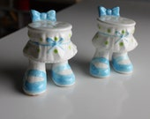 Enesco Salt and Pepper Shakers - Mary Janes Half Bodies - Not as Scary As They Sound