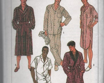 Mens and Teen Boys Sleepwear Pattern to Sew by Simplicity Large Nightwear