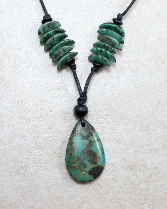 Nursing Necklace in Calming Turquoise with Nut Beads Breastfeeding Nursing