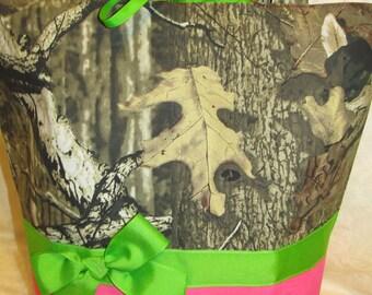 Mossy oak hot pink diaper bag mossy oak infinity camo camouflage diaper bag - tote bag - baby bag - carry all   you choose name