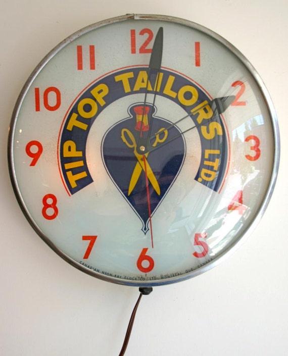Tip Top Tailor Advertising Clock