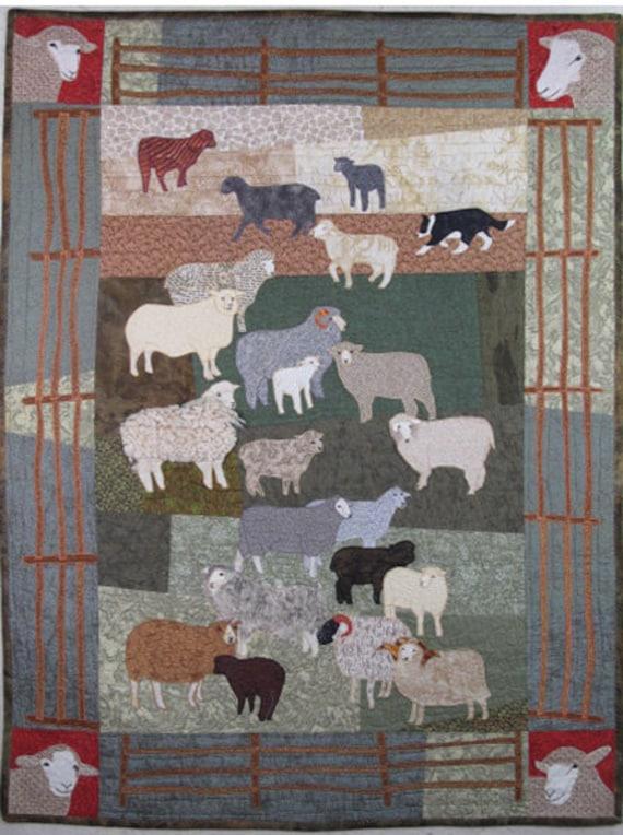 Woolly Sheep Machine Applique Pattern by Debora Konchinsky : sheep quilt pattern - Adamdwight.com