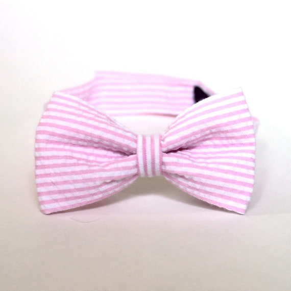 pink seersucker bow tie boys ties baby boy bow by