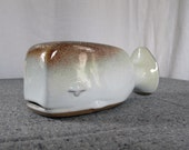 RESERVED FOR MEAGAN -- Midcentury Figural Whale Bank Studio Pottery