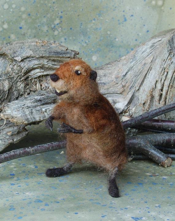 Needle Felted Beaver