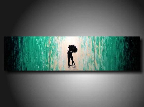 Huge Jmjartstudio Original 3 piece Painting 16 inches X 60 inches  ----- Trust---- Textured---