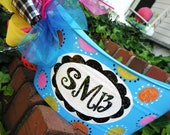 monogrammed and personalized bucket and basket...great for teachers, dorms, sorority, showers, birthday, christmas, halloween