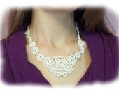Snowflake Necklace Pattern, Beading Tutorial in PDF