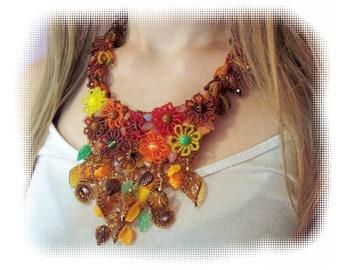 Endless Autumn Necklace, Beading Tutorial in PDF