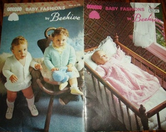 vintage knit crochet patterns ... Beehive BABY FASHIONS Patons Patterns leaflet pattern ...