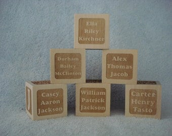 Personalized Baby Block Keepsake - Single Block with all Birth information