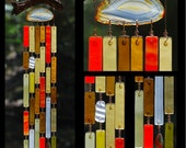 Recycled Beach Glass Inspired Wind Chimes - Harvest