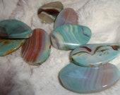 SALE. Beautiful Varascite, Large Oval Shaped Beads, 40mm, 8 Beads
