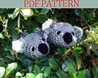 Baby Koala Bear Booties INSTANT DOWNLOAD Crochet Pattern