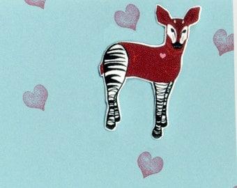 Okapi Brooch