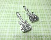Guitar Rhinestone Charms... 2pcs
