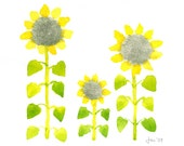 Sunflowers - Watercolor 10x8 Print