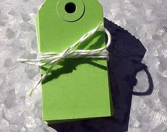 Shipping Tags Set of 20  2 3/4 x 1 3/8 inches  Small Lime Green