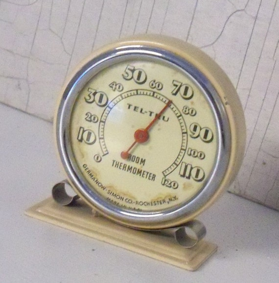 antique room thermometer metal thermometer interior. Black Bedroom Furniture Sets. Home Design Ideas