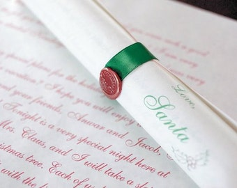 Deluxe Personalized Scroll from Santa Claus in Candy Cane Tube with Reindeer Food